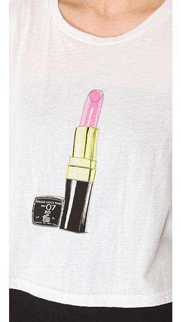 Sauce Lipstick Asymmetrical Tee