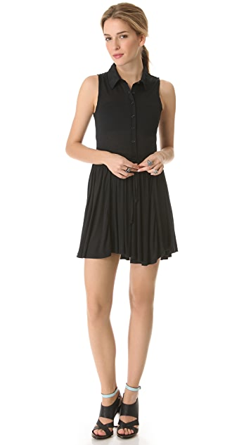 Sauce Pleated Sleeveless Dress
