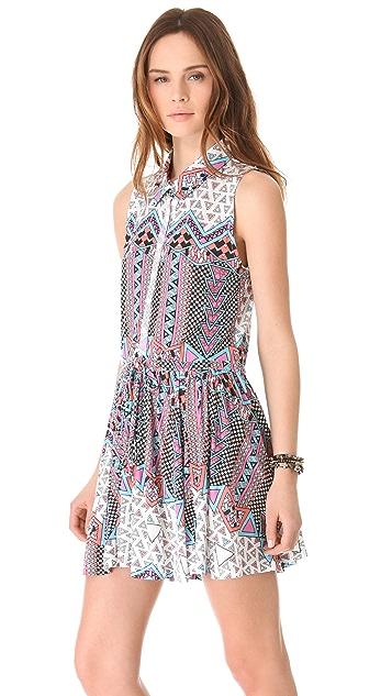 Sauce Pleated Sleeveless Dress