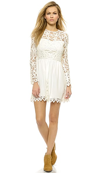 Saylor Josie Dress In White