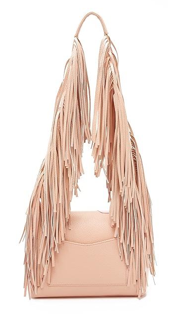 Sara Battaglia Patent Teresa Shoulder Bag