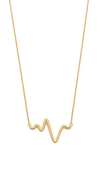 Sarah Chloe Large Heartbeat Necklace