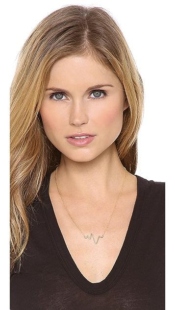 Sarah Chloe Large Heartbeat Necklace