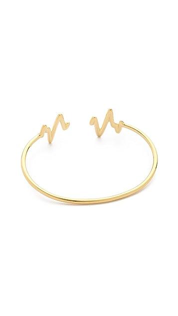 Sarah Chloe Heartbeat Bangle Bracelet