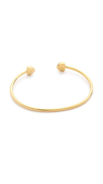 Sarah Chloe Lily Heart Bangle Bracelet