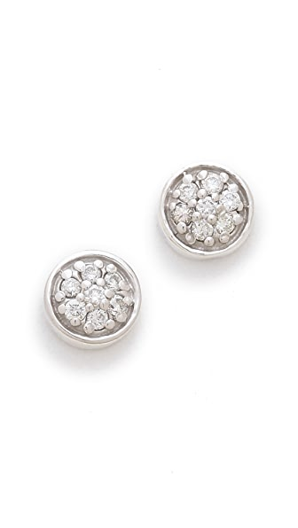 Sarah Chloe Petite Jolie Diamond Stud Earrings