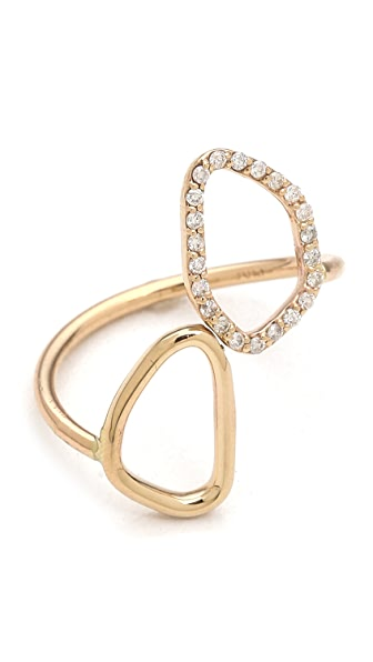 Sarah Chloe Diamond Organic Mirror Ring