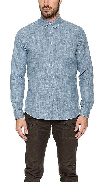 Schnayderman's Leisure Mouline Indaco Shirt