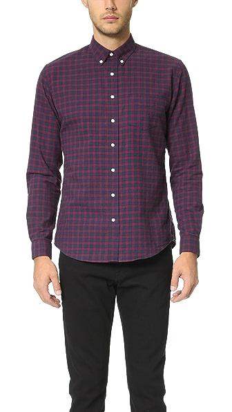 Schnayderman's Leisure Herringbone Medium Check Shirt