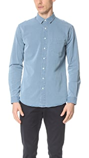 Schnayderman's Leisure Indigo Point Collar Shirt