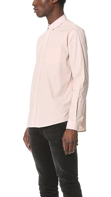 Schnayderman's Leisure Poplin One Wrinkled Shirt
