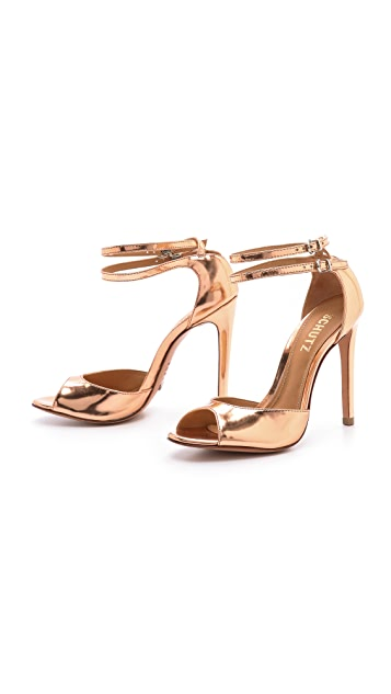 Schutz Shen Metallic Sandals
