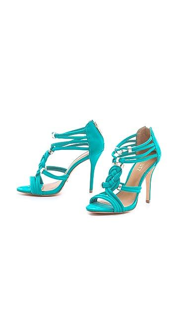 Schutz India Braided Suede Sandals