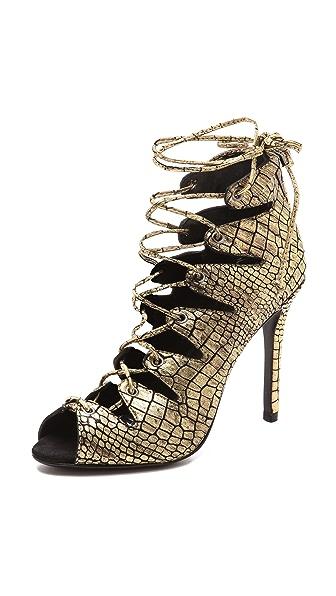 Schutz Slate Lace up Sandals