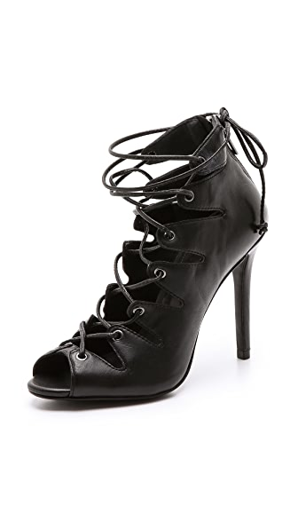 Schutz Slate Lace Up Booties