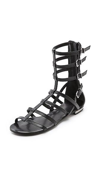 Schutz Fanny Flat Gladiator Sandals