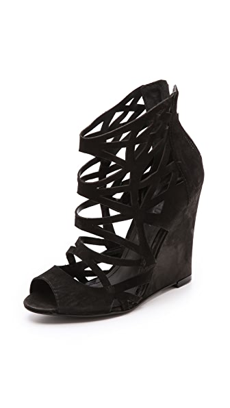 Schutz Carlee Cutout Wedge Sandals