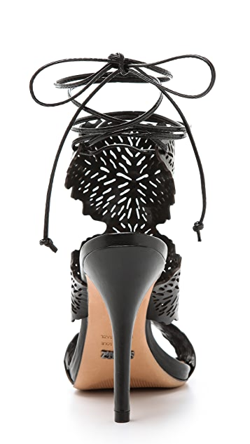 Schutz Garoa Laser Cut Sandals