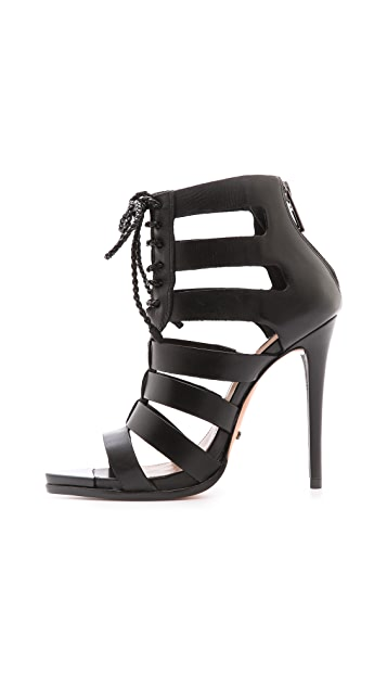 Schutz Fermina Lace Up Sandals