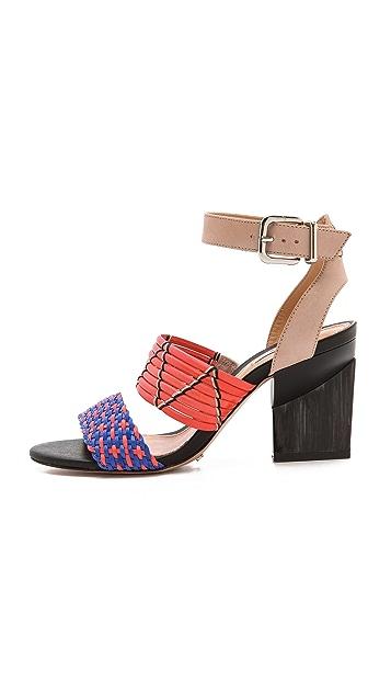 Schutz Fidji Woven Band Sandals