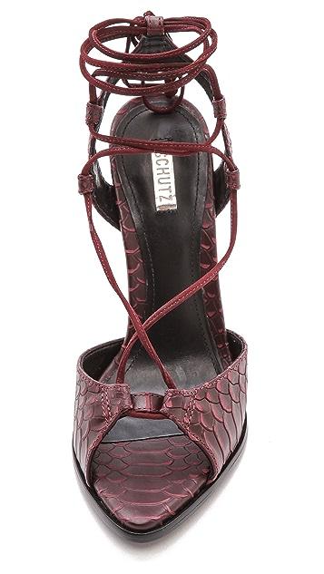 Schutz Oriana Ankle Wrap Sandals