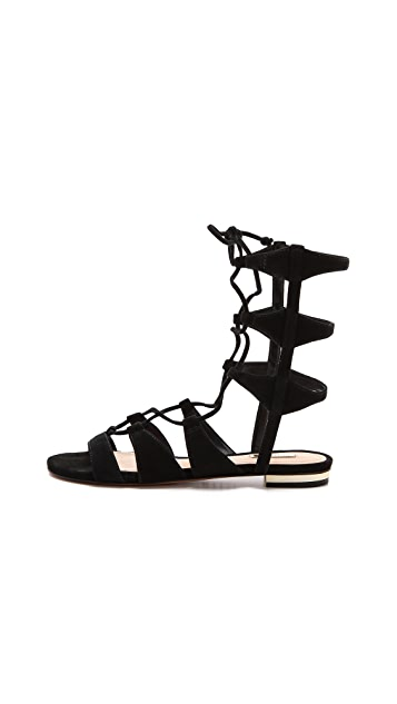 Schutz Erlina Lace Up Sandals