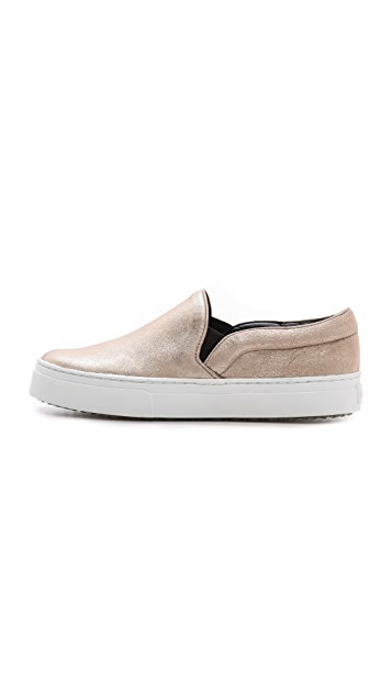 Schutz Amisha Metallic Slip On Sneakers