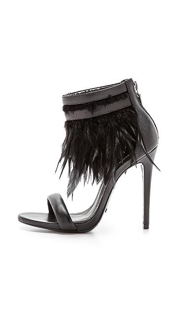 Schutz Uiara Feather Sandals