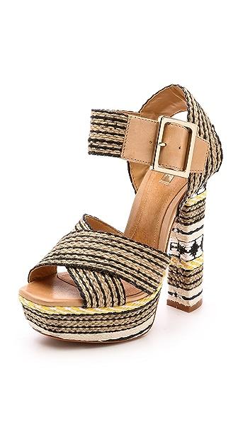 Schutz Erminiana Woven Platform Sandals