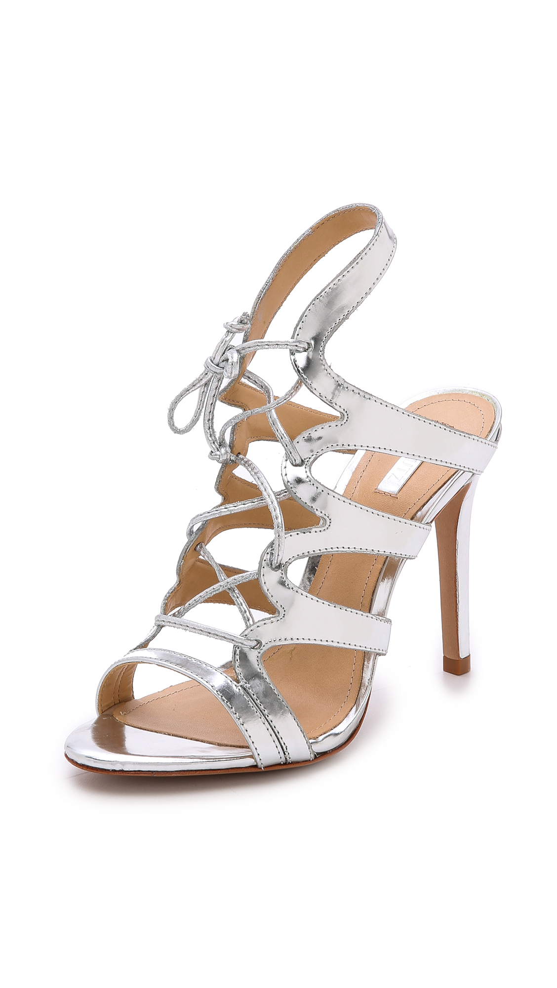 f6932e4dd543 Schutz Dubiana Lace Up Sandals on PopScreen