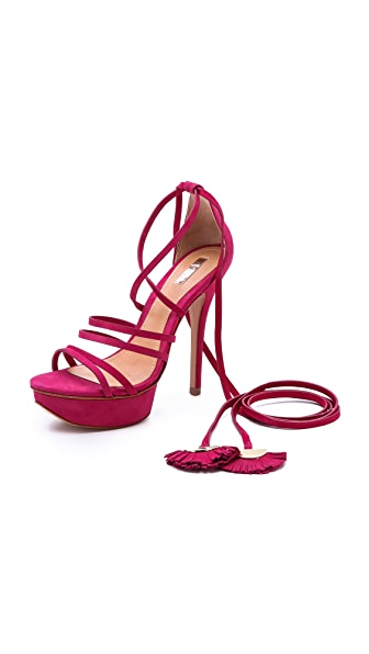 Schutz Ankle Wrap Platform Sandals