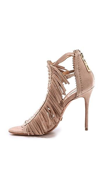 Schutz Fringe Suede Sandals