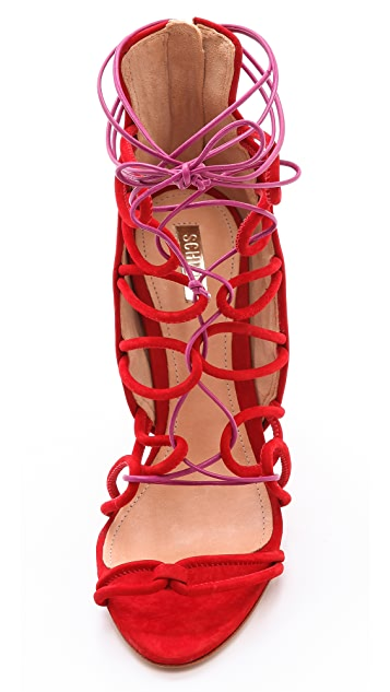 Schutz Fiorenza Lace Up Sandals