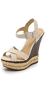 Fiore Platform Wedge Sandals                Schutz