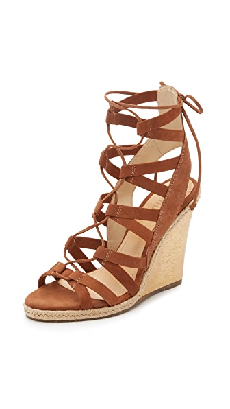 Schutz Eime Lace Up Wedge Sandals