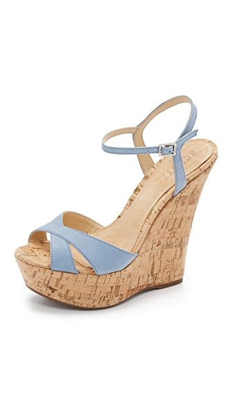 Schutz Emiliana Wedge Sandals - Jeans