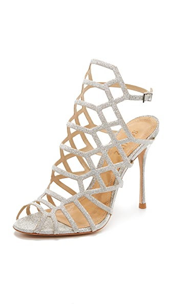 Schutz Juliana Caged Sandals - Prata