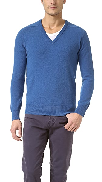 Scott & Charters Slim Fit V Neck Sweater