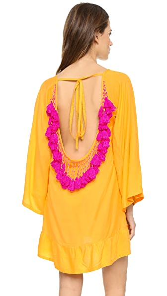 Sundress Indiana Short Beach Dress - Bright Yellow/Pink