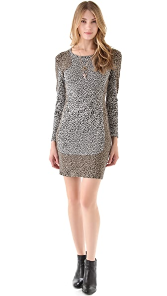 Sea Leopard Combo Sheath Dress
