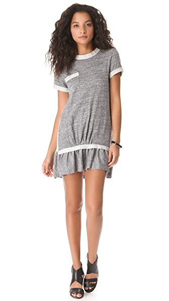 Sea Jersey & Lace Popover Dress