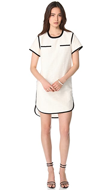 Sea Trimmed T Shirt Dress
