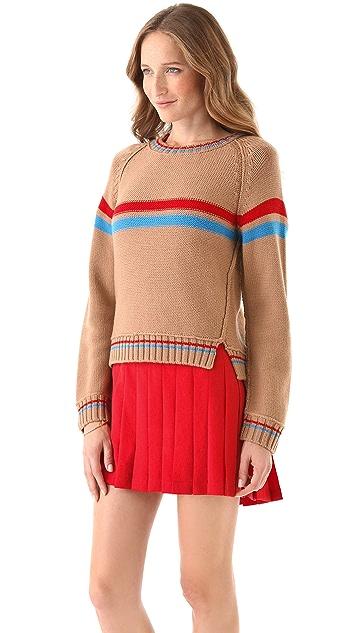 Sea Hand Knit Striped Sweater