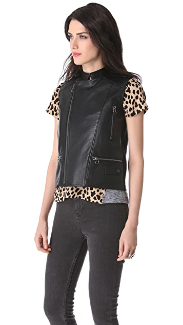 Sea Perforated Leather Vest