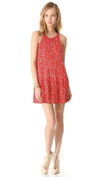 Sea Pleated Anchors Skirt Dress