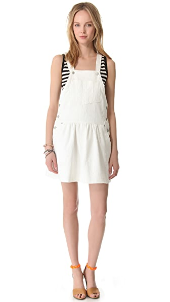 Sea Popover Overall Dress