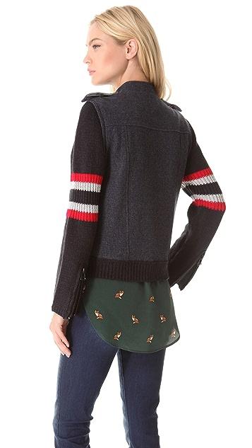 Sea Baby Flannel Moto Jacket