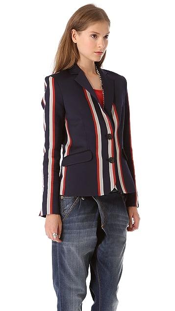 Sea Vertical Striped Blazer