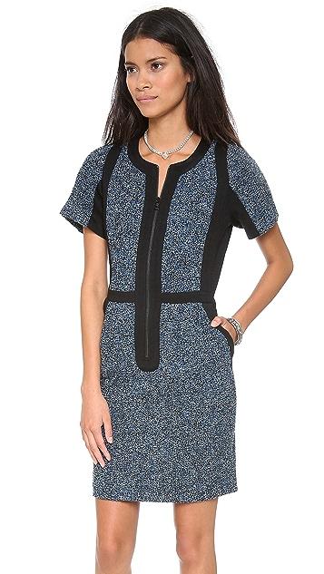 Sea Combo Zip Dress