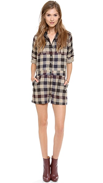 Sea Plaid Romper